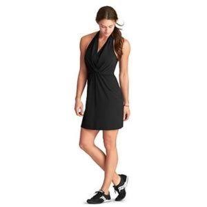 NWT Athleta Go Anywhere Halter Dress Solid Black